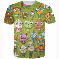 Summer Style Tees Tops Muppet T Shirt Wide Eyed Muppets Sweet Tee Cute 3D Print Fashion