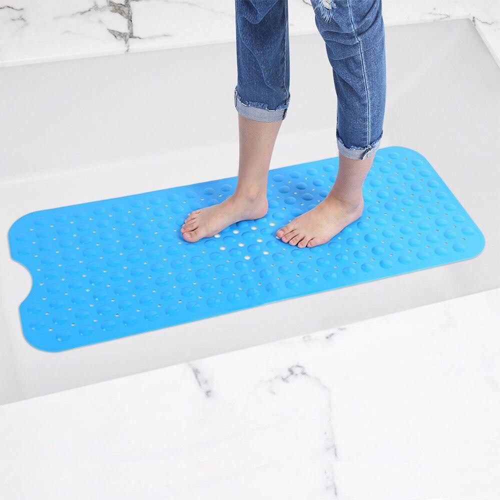 Non Slip Safety Bathtub Mat Rubber Bathroom Shower Bath Tub Pad Rug Protection