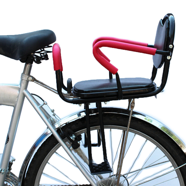 Quick Release Back Seat Kids' Saddle Armrest Handlebar Mountain Bike Road Bicycle Folding Children Safety Back Seat Mat Saddle