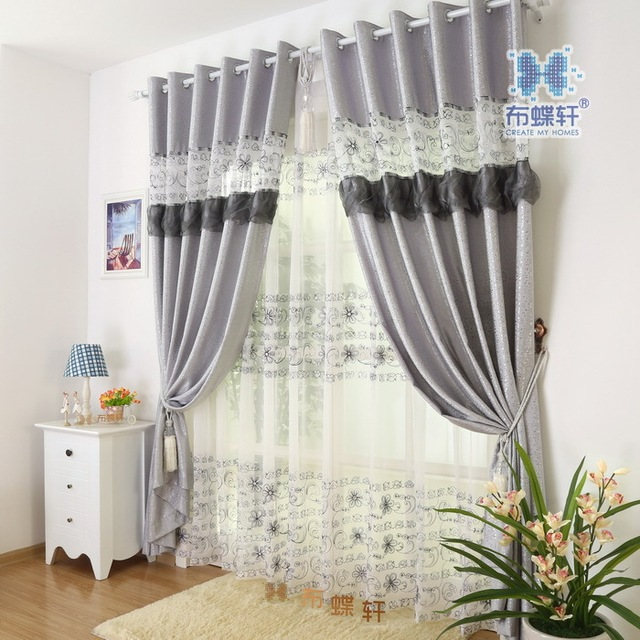 S&V Hot sale finished curtains high quality tulle blind modern ...