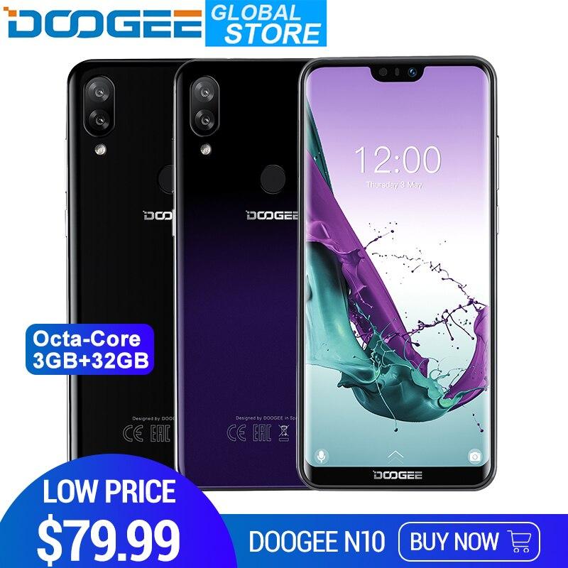 Nuevo Teléfono Móvil DOOGEE N10 3360 MP cámara frontal 8,1 mAh Android 4 GLTE octa-core 3 GB RAM 32 GB ROM 5,84 pulgadas FHD + pantalla 19:9