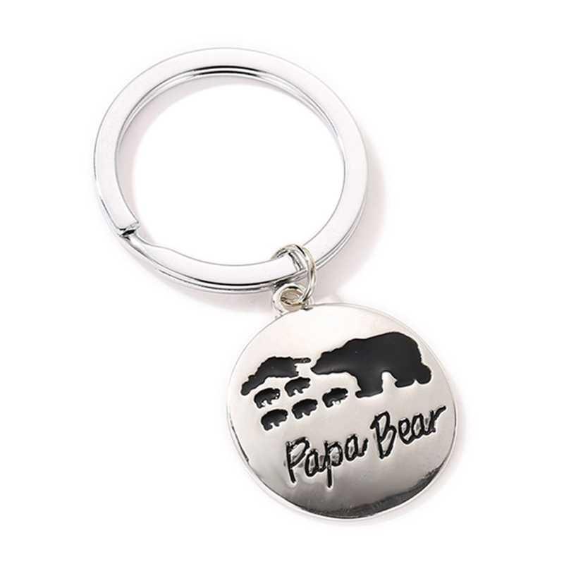 Mãe de família Amor Chaveiro Chaveiro Urso PaPa MAMÃE Urso Keychain Mulheres Coelho Pompom Pele Chaveiro