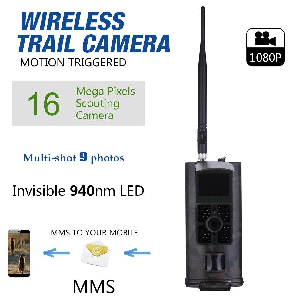 Caméra de chasse cellulaire 2G GSM MMS SMS SMTP caméra de piste Mobile 16MP Vision nocturne sans fil Surveillance de la faune HC700M - 5