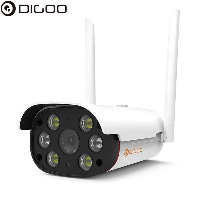 DIGOO DG-W30 double lumière balle IP caméra couleur Vision nocturne 1080 P FHD étanche WIFI intelligent sécurité de la maison détection de mouvement