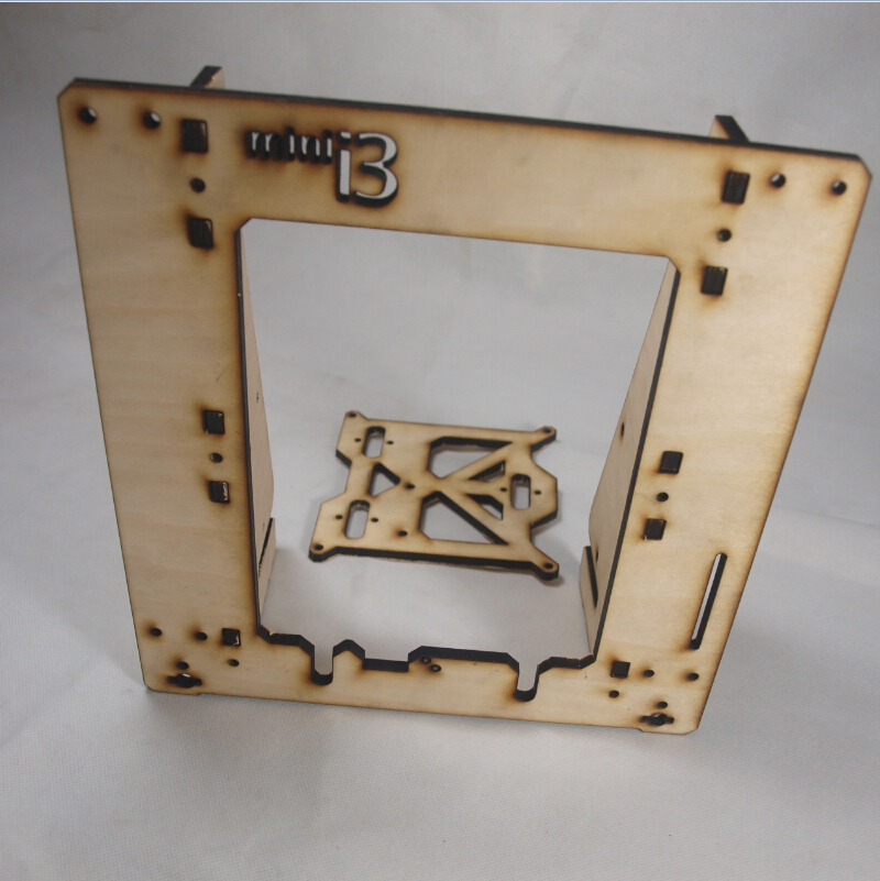 ФОТО 3 D printer parts reprap mendel prusa mini i3 laser cut frame 6 mm in 6mm plywood free shipping