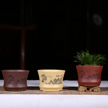 Classical Miniature Bonsai Pots Purple Clay Flower Pots Handmade Painted pots for flowers Small Size Desktop & Buy clay flower pots and get free shipping on AliExpress.com