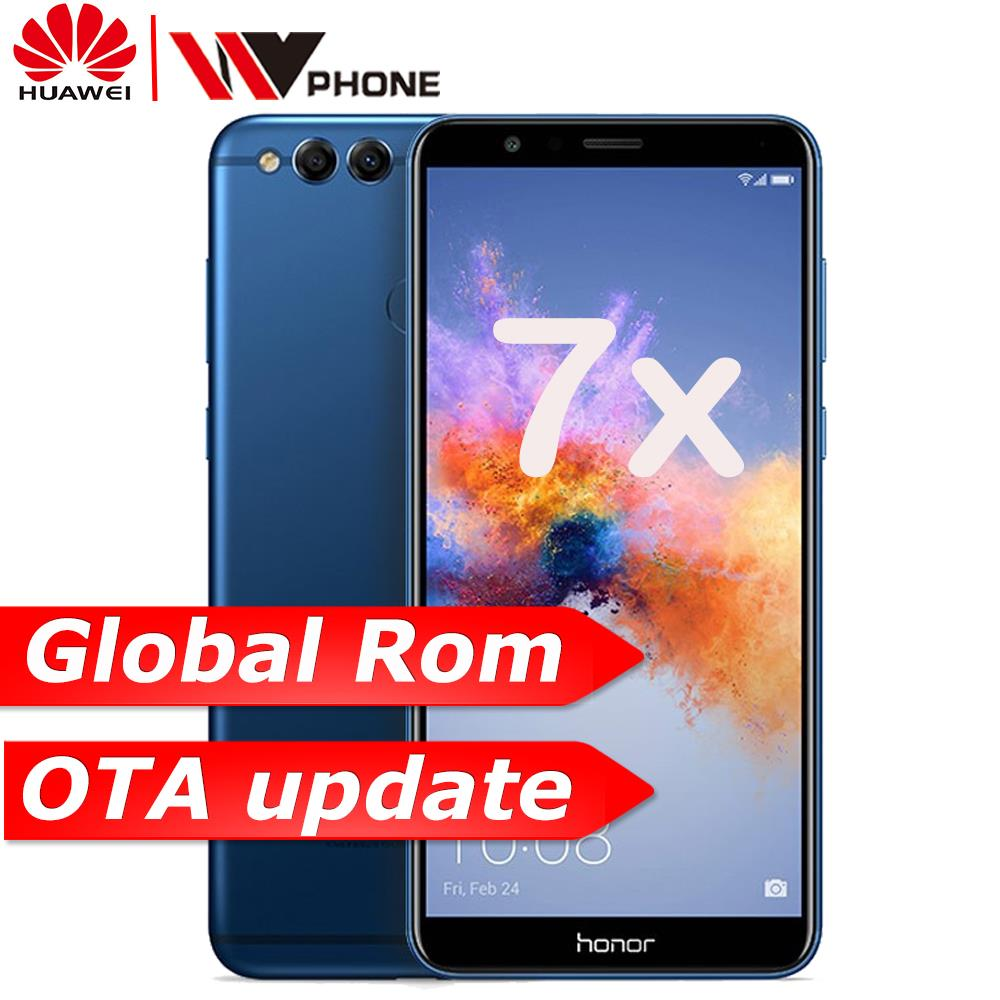 Huawe Honor 7X Mobile Phone Octa Core Dual Rear Camera 3340mAh  5.93 inch 2160*1080P Fingerprint
