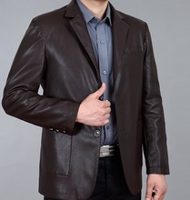 2016 leather clothing male Leather suit leather clothing business casual sheepskin suit leather clothing jacket male