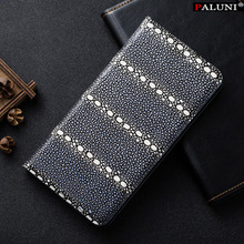 High Quality Genuine Leather Case Cover For Apple iPhone 7 / 7 Plus Flip the bracket Pearl Fish Texture Case+Free Gifts