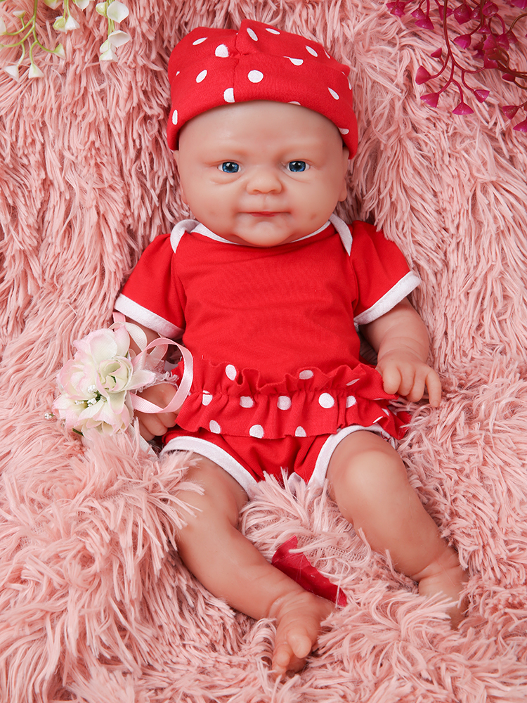 Reborn-Doll Baby Toy Silicone Bebe IVITA Eye-Realistic-Girl Children Full-Body with 3-Colors