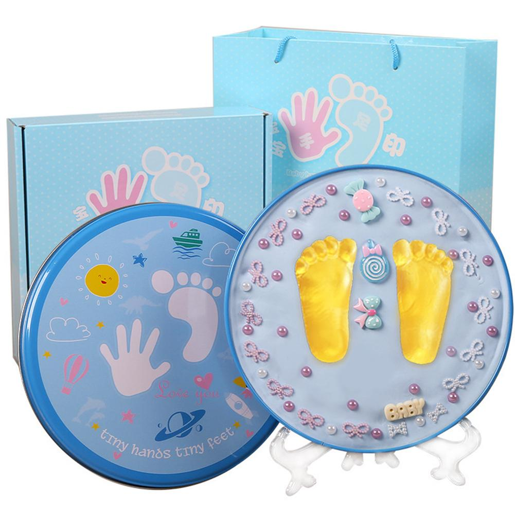 Baby Hand Print Footprint Imprint Kit Baby Handprint Mud And Foot Print Baby Souvenirs Baby Hand And Foot Mold Hundred Days Gift