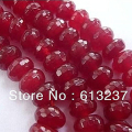 Natural Red Stone Jade 5x8mm Semi-precious Jasper Faceted Abacus Rondelle Loose Beads High Grade Jewelry Making 15inch MY4326