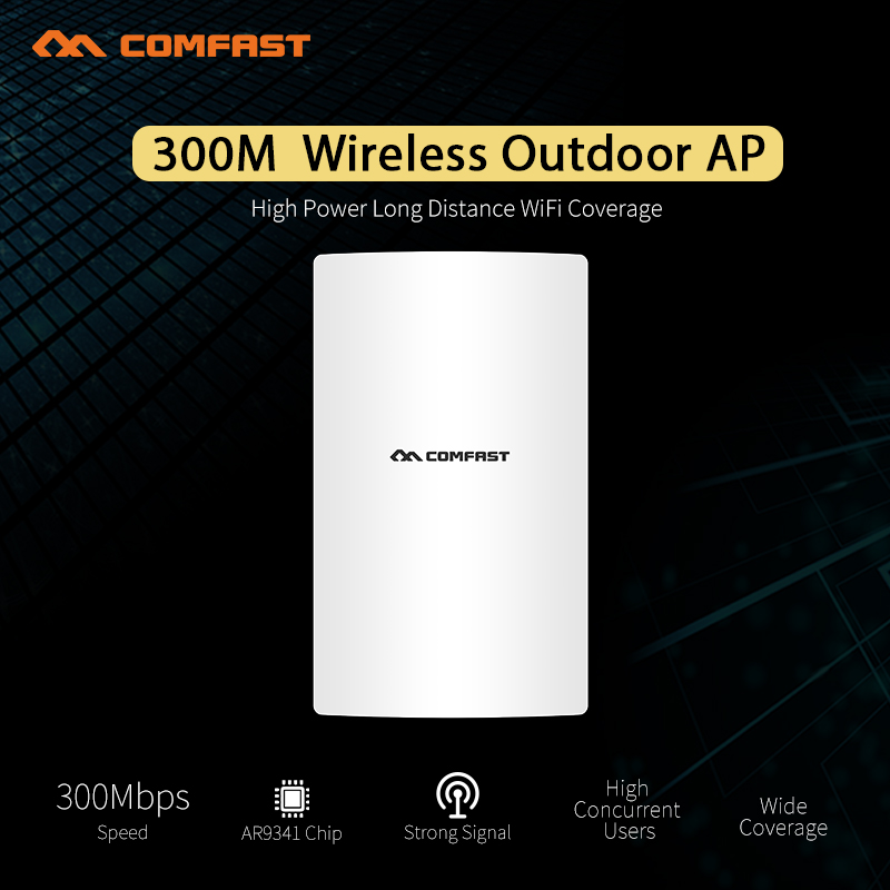 COMFAST Outdoor wireless AP router antenna signal extender 300M AR9341 Chip High power wi-fi coverage AP bridge cpe for project jd коллекция 300m потолок ap дефолт