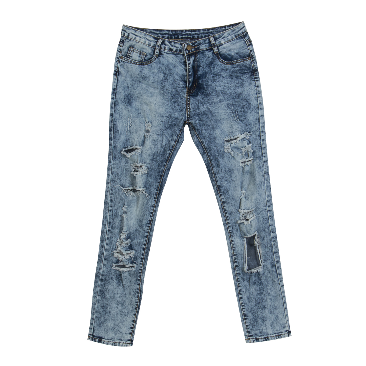 2017 new boyfriend hole ripped jeans women pants cool denim vintage straight jeans for girl low waist casual pants female denim overalls male suspenders front pockets men s ripped jeans casual hole blue bib jeans boyfriend jeans jumpsuit or04