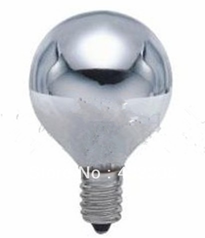 demi chrome ampoules e14 globe led 230v r flecteur ampoules e14 silver bowl lumi re. Black Bedroom Furniture Sets. Home Design Ideas