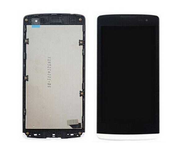 ФОТО White color For LG Leon H340 H340n H324 H320 H326 H324N LCD Screen Display+Digitizer Touch Glass+Frame assembly free shipping