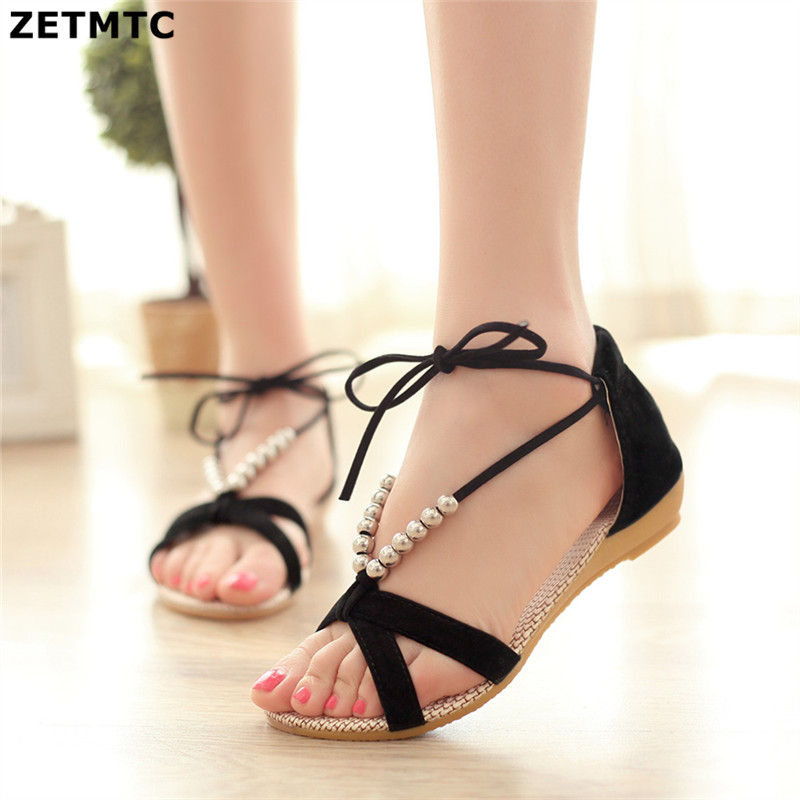 2018 New summer shoes women fashion flat women Sandals Leisure Bohemia Ladies beach Flip Flops Soft casual female Sandals shoes-in Low Heels from Shoes on Aliexpress.com | Alibaba Group