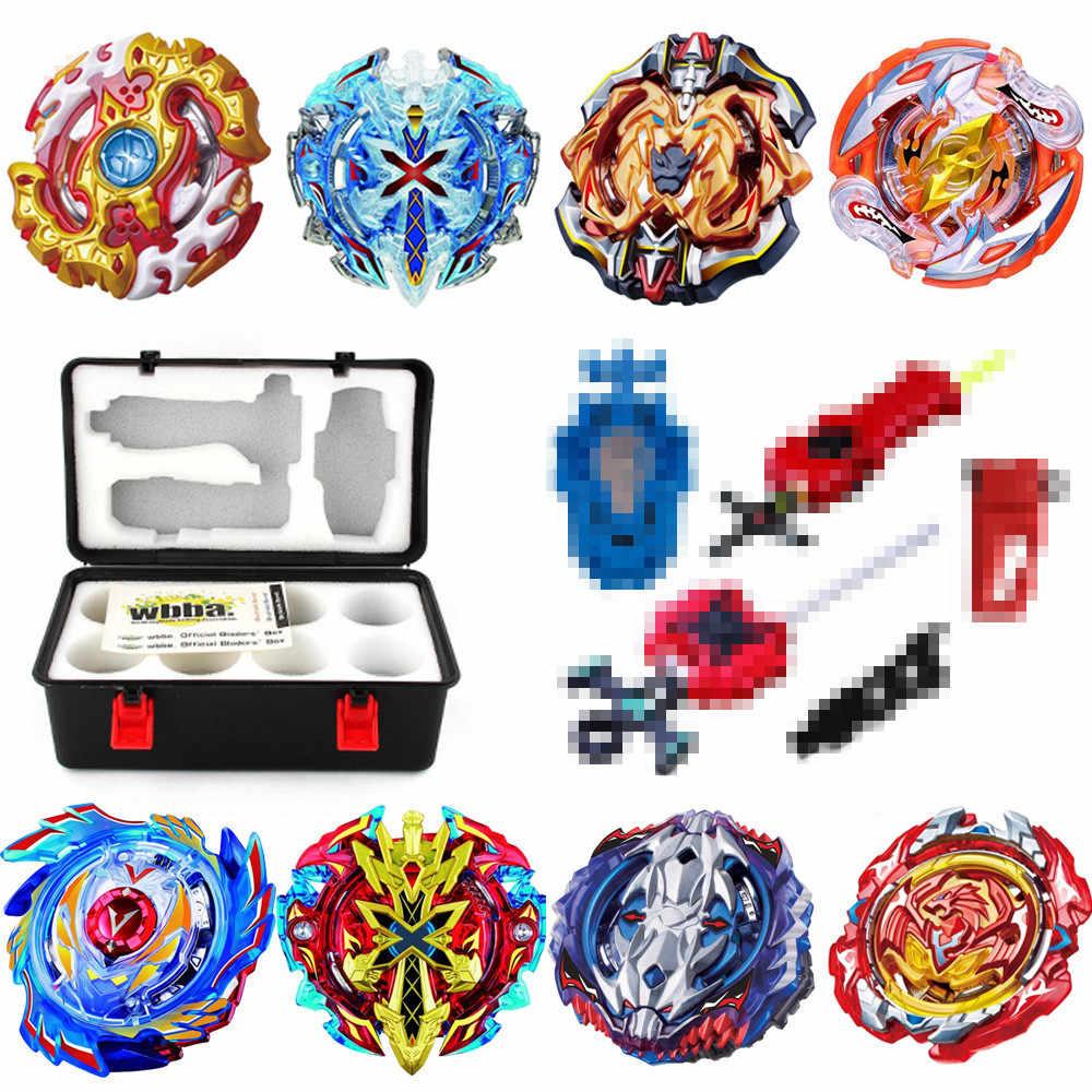 Toupie Spinning Top juego de fusión de Metal caja de almacenamiento Top burst bey blade juguetes Launcher juguetes para niños
