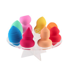 8 Hole Plastic Cosmetic Dryer Makeup Brushes Holder Stand Dryer Oval Puff Brush Holder Drying Rack Organizer Beauty Shelf Tool