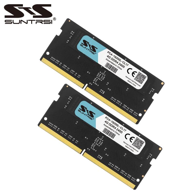 купить Suntrsi DDR4 4G 8G 2133MHz 2400MHZ 1.2V Memory RAM for Notebook New RAMs по цене 2638.3 рублей
