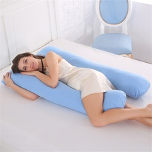 Sleeping Support Pillow For Pregnant Women Body 100% Cotton Pillowcase U Shape Maternity Pillows Pregnancy Side Sleepers Bedding