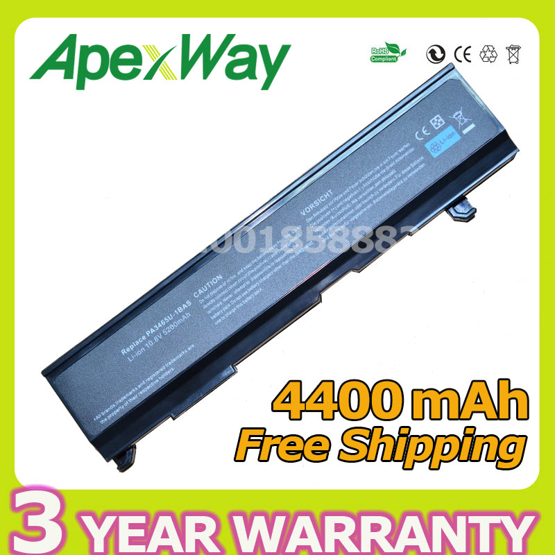 Apexway 6 Cells Laptop Battery PA3465U PA3465U-1BRS PABAS069 for Toshiba Satellite A80 M105 M115 M45 M50 M55 M70 for Dynabook AXApexway 6 Cells Laptop Battery PA3465U PA3465U-1BRS PABAS069 for Toshiba Satellite A80 M105 M115 M45 M50 M55 M70 for Dynabook AX