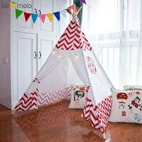 MrPomelo Baby Spielen Zelt Garten Spiel Innen Indischen Spielhaus mit Fenster Kid Freien Spielzimmer Kinder Spielzeug Zelt Red welle