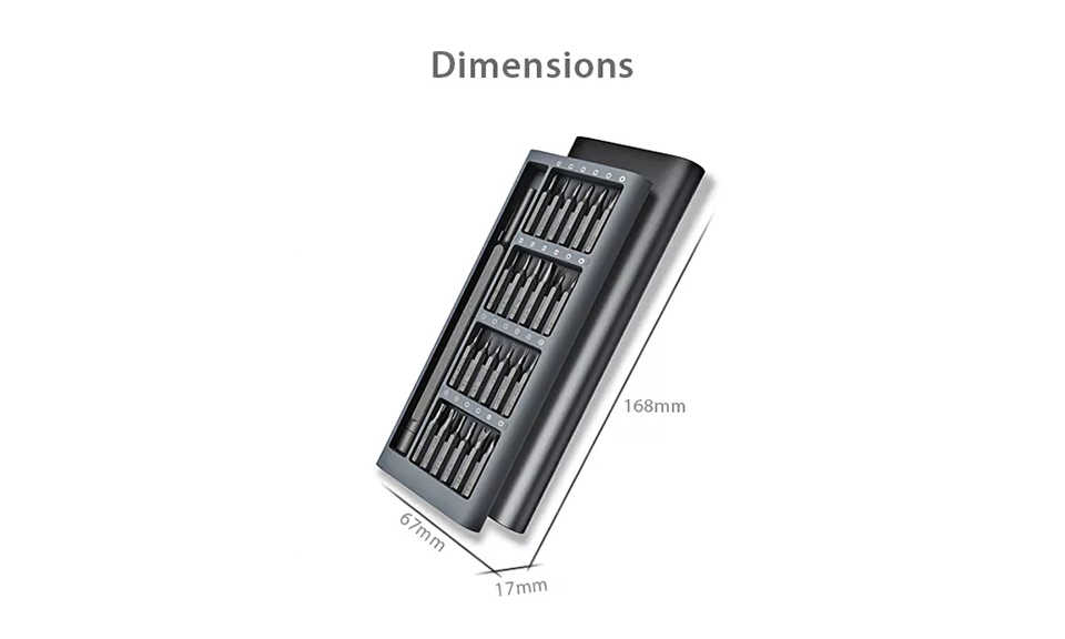 Xiaomi Mijia Wiha Daily Use Kit 24 Magnetic Bits Alluminum Box DIY Screw Driver Intensive screwdriver Smart Home Set