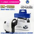 60 rollen Generisches DK 11220 Label 39*48mm 620Pcs Kompatibel für Brother Label Drucker QL 570/700/ 720 alle Kommen Mit Kunststoff Halter-in Drucker-Bänder aus Computer und Büro bei
