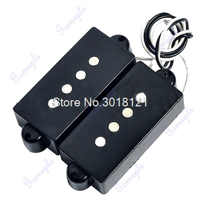 Black 4 String Noiseless Pickup Set For Precision P Bridge Bass Pickup Set