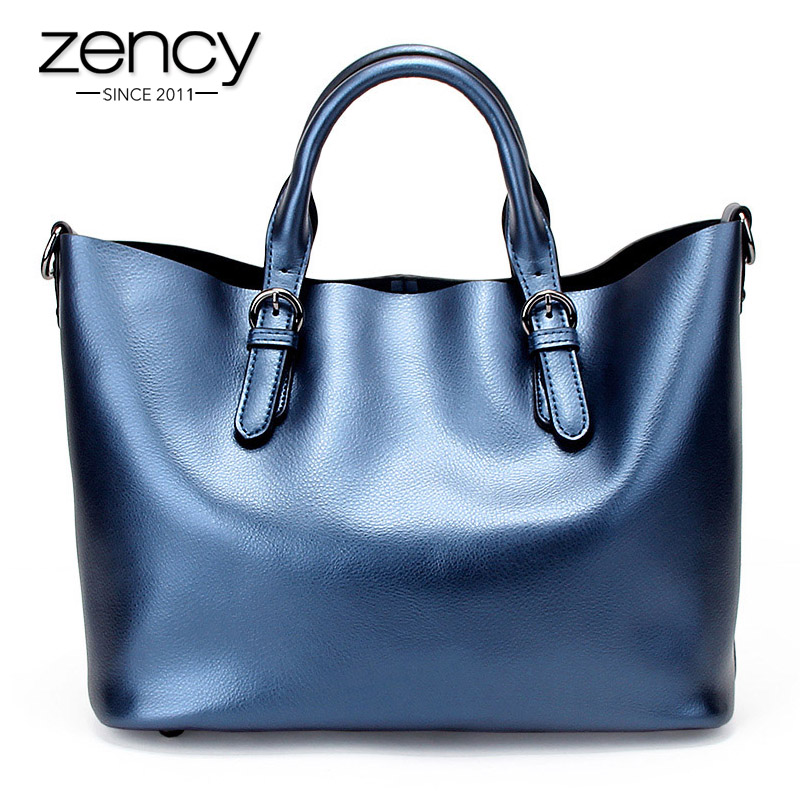 Zency Brand Fashion luxury handbags women large capacity casual bag ladies Genuine Leather shoulder tote bags bolsos feminina zency fashion women real genuine leather casual women handbag large shoulder bags elegant ladies tote satchel purse bolsa 2017