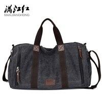 MANJIANGHONG Large Capacity Canvas Men's Bag Leisure Retro Men Travel Bags Simple Fashion Male Shoulder Messenger Bags Drop Ship