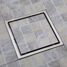 Amazing 80pcs/lot Square Shower Floor Drain With Tile Insert Grate  Stainless Steel  , 6