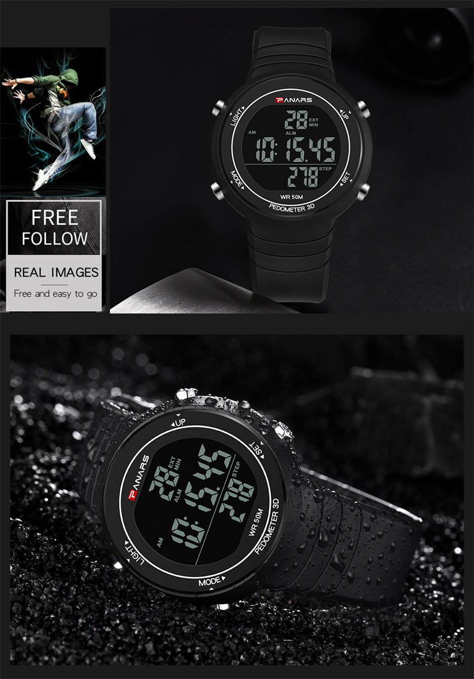 Pedometer Watch Clock Woman Waterproof 50M Outdoor Digital Sports Watch Women Simple Small Bracelet Hand Wrist Watches Hour gift (11)