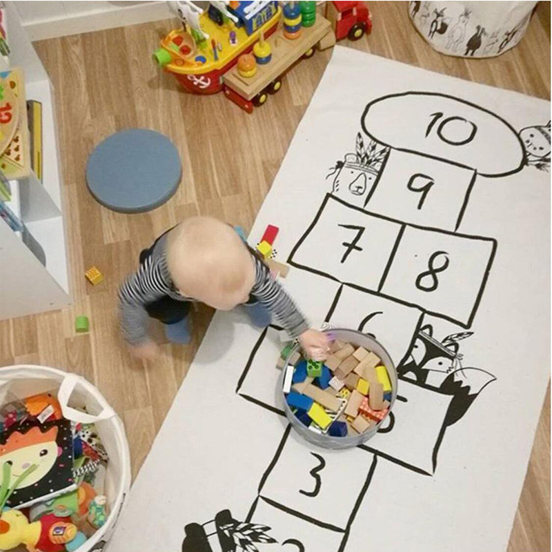 Baby Playmat Baby Room Decoration Rug Carpet In The Nursery Digital Checkers Playmat Ins Style Printed Cartoon Baby Activity Gym | Happy Baby Mama
