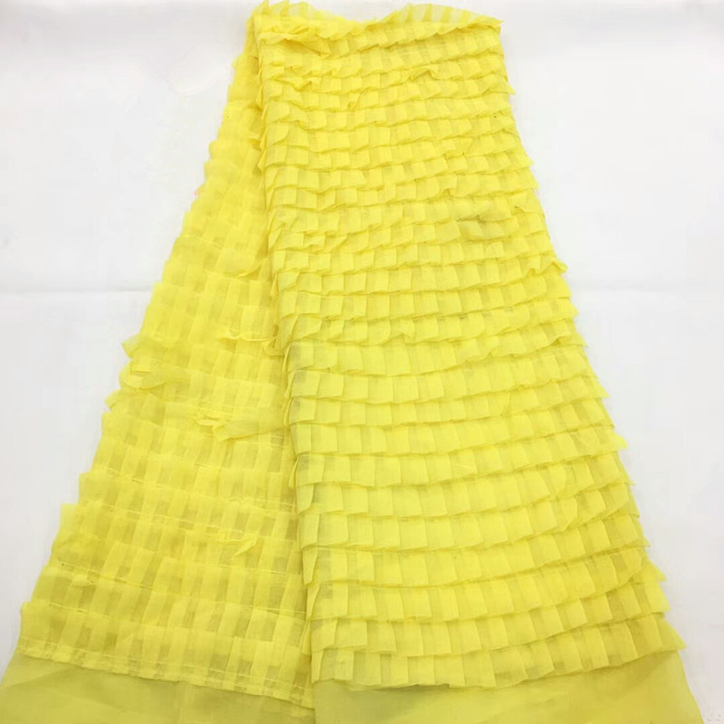 2019 Latest French Nigerian Laces Fabric High Quality Sequins Lace Fabric African Handmade beads Tulle Lace Fabric rf13 94-in Lace from Home & Garden    2