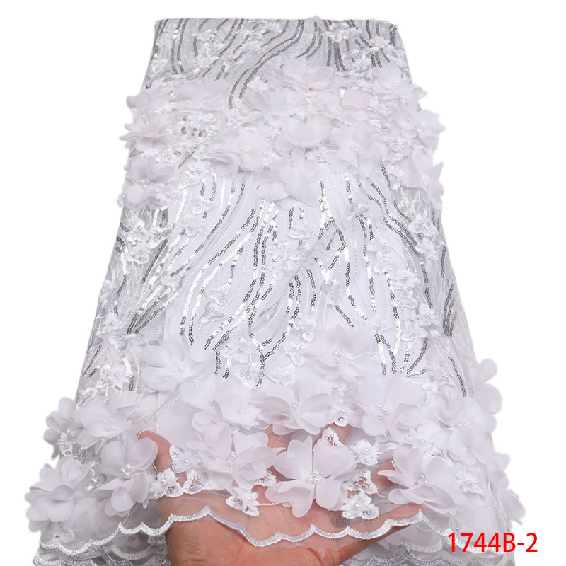 최신 프랑스 레이스 3d 꽃 패브릭 tulle net fabric 2019 고품질 아프리카 레이스 자수 메쉬 레이스 패브릭 비즈 APW1744B 2-에서레이스부터 홈 & 가든 의  그룹 3