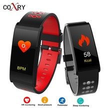 hot deal buy coxry fitness smart watch women digital watches blood pressure sports heart rate pedometer sleep led calorie counter wrist watch