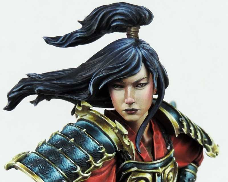 1/10 Scale Resin Bust Japanese Female Assassin Historical Character Unpainted Figure Model Kit Free Shipping