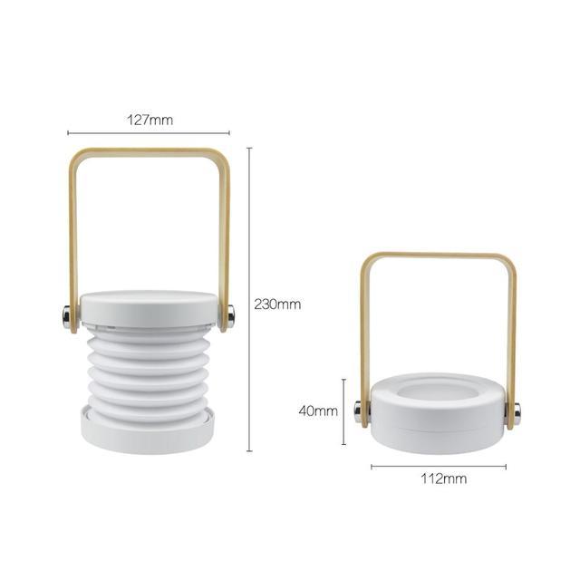 Lampe de table lanterne pliable et rechargeable Lampes Cocooning.net