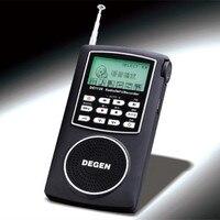 DEGEN DE1126 FM Radio DSP Đài AW MW SW Xách Tay Pocket kỹ thuật số thông minh Radio Với 4 GB Ghi MP3 Giọng Nói Nghe Txt chức năng
