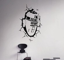 New arrival Star Wars Wall Decal R2 D2 Vinyl Sticker Robot Droid Home Interior Removable Decor Custom Decals