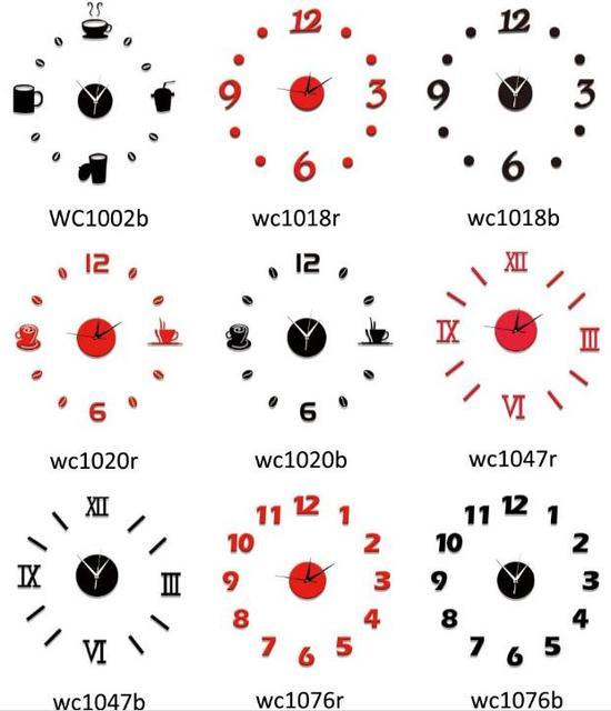 Acryl Wanduhr Designer Uhr Küche orologio da muro digitale ruhig ...
