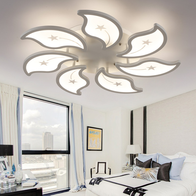 Acrylic flush led ceiling lights white light frame home decorative