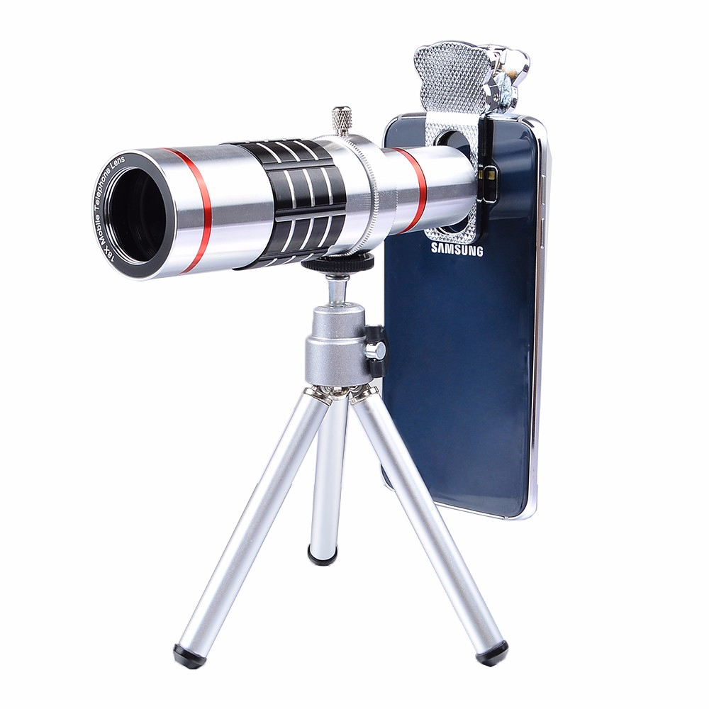 APEXEL Universal 18x Optical Telescope Mobile Lens Telephoto Zoom Slow with Tripod for Samsung iPhones Phone LX18X