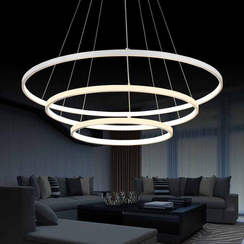Moderne LED Kronleuchter Für Wohnzimmer Esszimmer Acryl Aluminium .