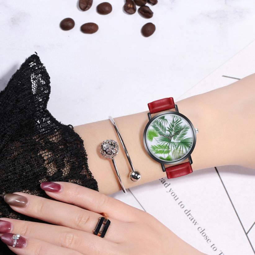 Fashion Womens Ladies Watches Hot sale Faux Leather Analog Quartz Wrist Watch Relogio Feminino Women Watches Reloj Mujer Bayan