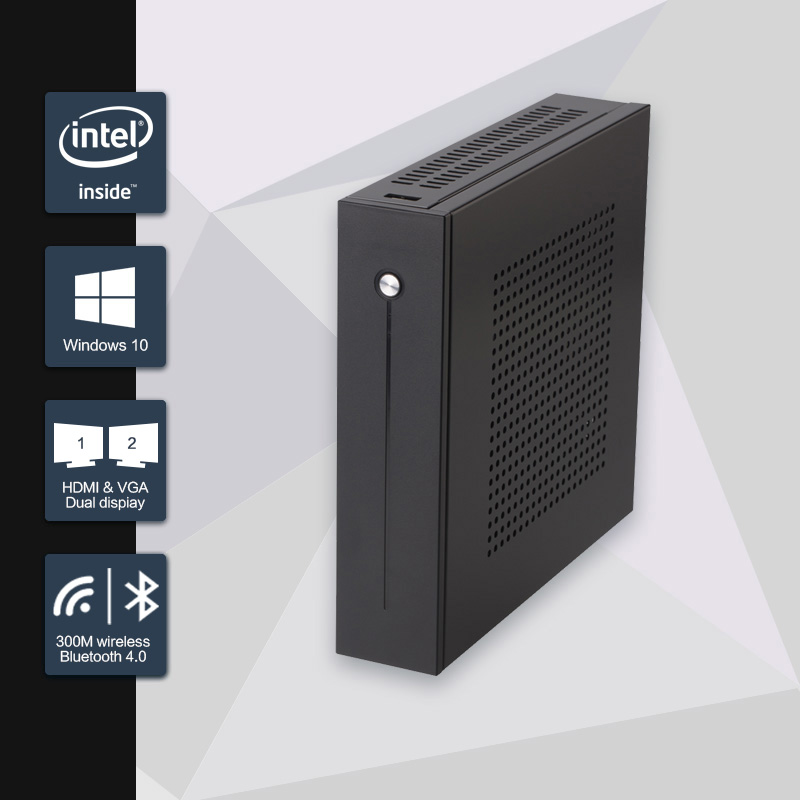 где купить  Celeron J1900 Mini PC Quad Core Fanless Mini PC with VGA HDMI Dual LAN 2 LAN  Port 2 COM support Window 10/Win 7/Linux/Ubuntu  дешево