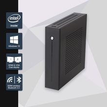 Celeron J1900 Mini PC Quad Core Fanless Mini PC with VGA HDMI Dual LAN 2 LAN  Port 2 COM support Window 10/Win 7/Linux/Ubuntu