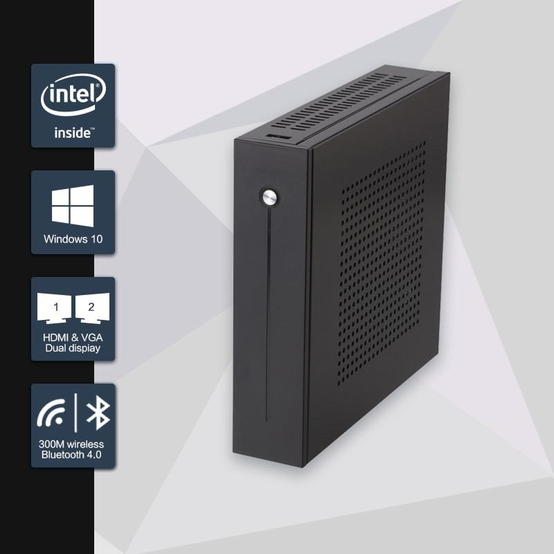 Celeron j1900 mini pc quad core sin ventilador mini pc con vga HDMI Dual LAN 2 P